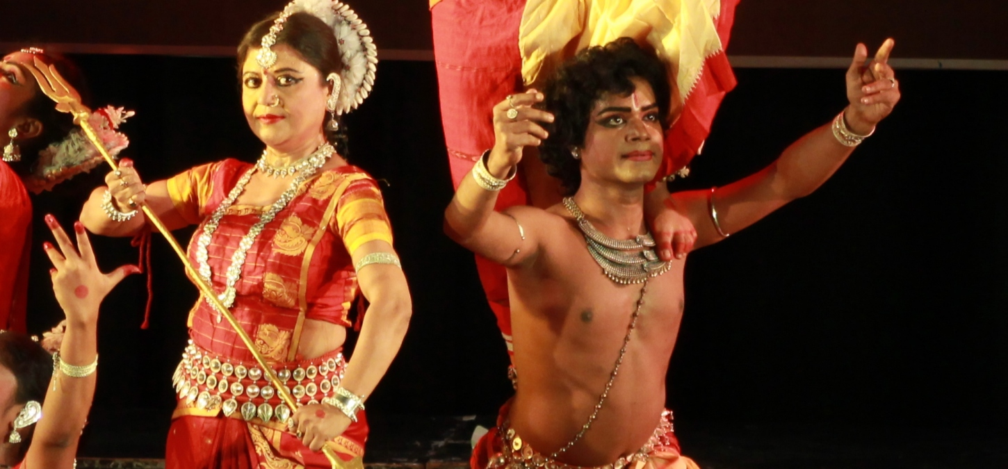 Indische Tanzperformance